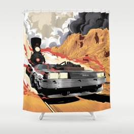Back to the Future III (Three) Shower Curtain
