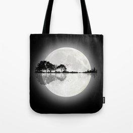Moonlight Nature Guitar Tote Bag