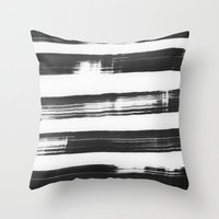 the strokes Throw Pillows featuring strokes by catherineR