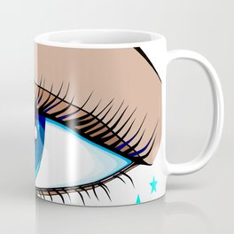 The Eye looking out at the Water at a Boat Coffee Mug
