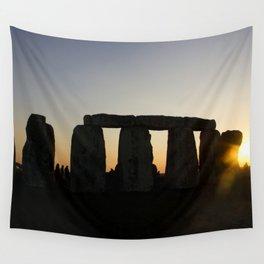 Stonehenge at Sunset Wall Tapestry