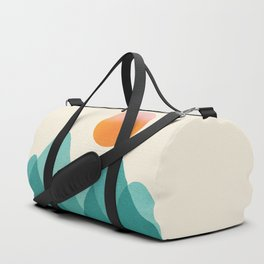 Abstraction_Mountains_SUNSET_Landscape_Minimalism_003 Duffle Bag