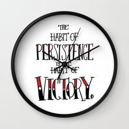 The Habit of Victory Wall Clock