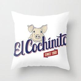 El Cochinito Orginal Throw Pillow