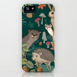 Animals In The Woods iPhone Case