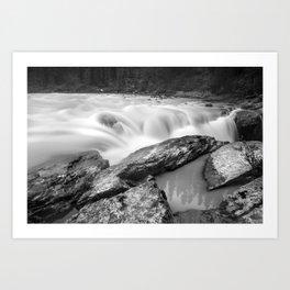 Long Exposure, Canadian Rockies Waterfall Art Print