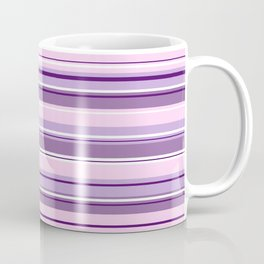 Mixed Striped Design Pinks Purples White Coffee Mug