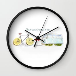 Our Love Journey Wall Clock