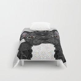 Black Frenchie 001 Comforters