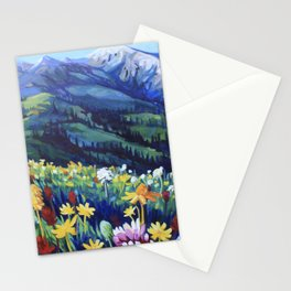 Alpine Meadow Stationery Cards