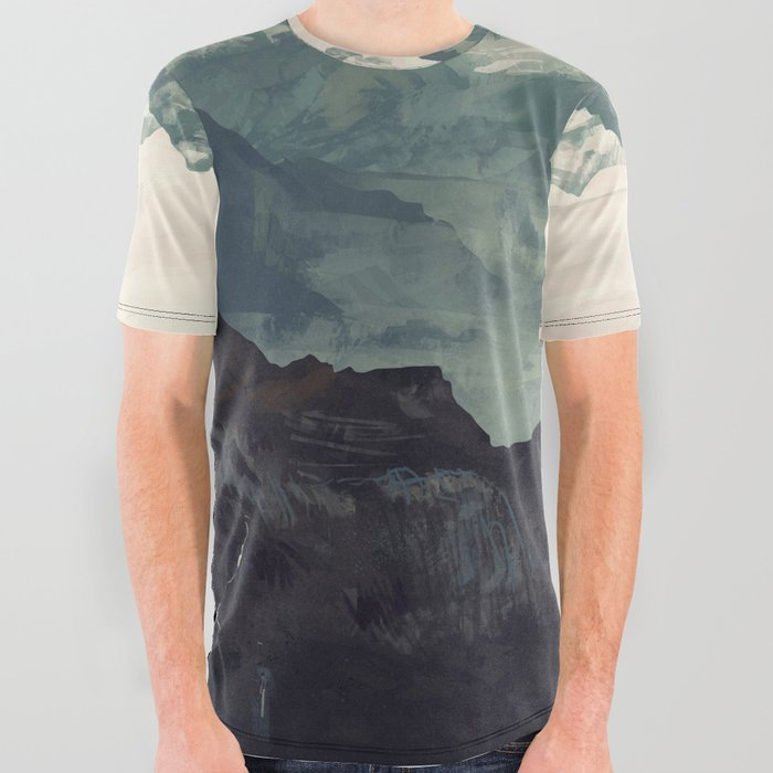 Mountain Fog All Over Graphic Tee