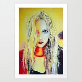 Watch the sun rise, 120-80cm, 2017, oil on canvas Art Print