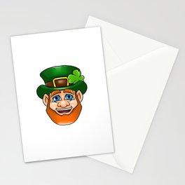 Leprechaun Smiling Face Irish St Patty_s Day Stationery Cards
