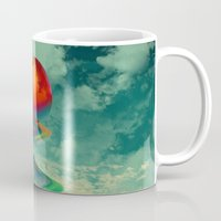 sun Mugs featuring Reach the Sun! by Klara Acel