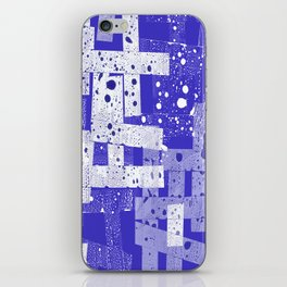 Abstract in blue iPhone Skin