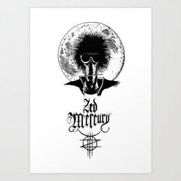 Zed Mercury: Psychopomp - Full Moon Art Print