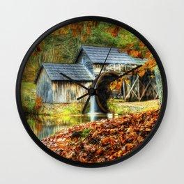 Autumn 2015 at Mabry Mill Wall Clock