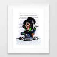 mad hatter Framed Art Prints featuring Mad Hatter by VanBof