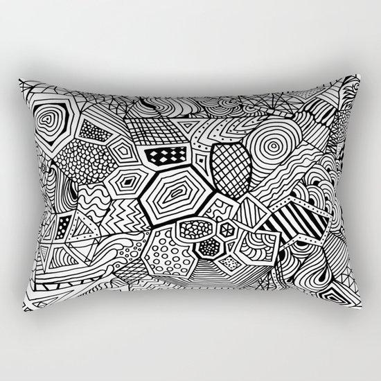 Lucky Abstract Geometric DREAM CATCHER Rectangular Pillow