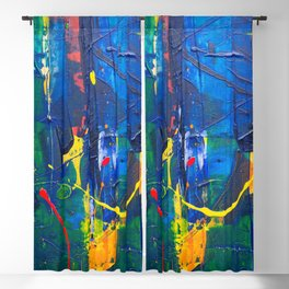 Colorful background Blackout Curtain