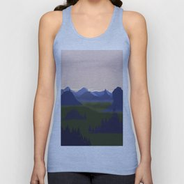 Sunrise at the mountains Unisex Tank Top