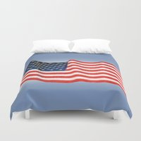 american flag Duvet Covers featuring American Flag by George Robinson