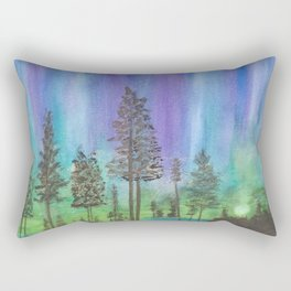 Alaskan Aurora Lights Rectangular Pillow