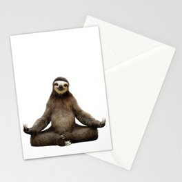 Sloth Yoga Art Print Stationery Cards