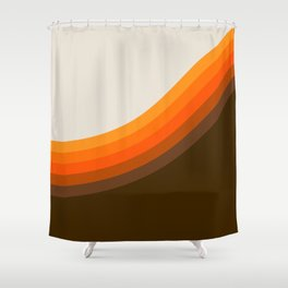Golden Horizon Diptych - Right Side Shower Curtain