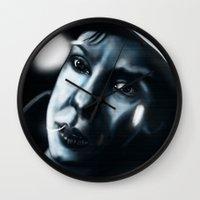 sandra dieckmann Wall Clocks featuring Sandra bullock in Gravity by Jamie Briggs