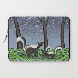 starlit striped skunks Laptop Sleeve