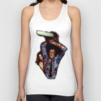 evil dead Tank Tops featuring evil dead  by Official Nicolas Cage Cats