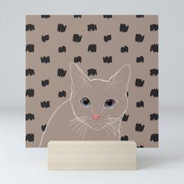 Cat stare Mini Art Print