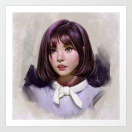 Portait of Eunha Art Print