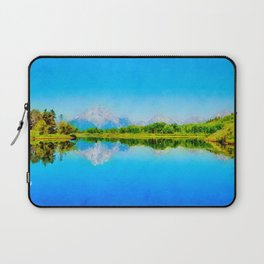 Lake reflections watercolor painting #1 Laptop Sleeve