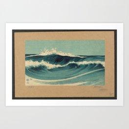 Hato Zu - Waves Art Print