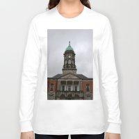dublin Long Sleeve T-shirts featuring Dublin Castel by Chalene Malekoff