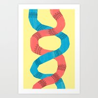 twins Art Prints featuring twins. by Orphan Elliott