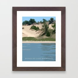 Dunes of Lake Michigan Framed Art Print