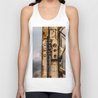 industrial Tank Tops featuring Industrial landscape by vientocuatro