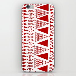 Zig Zag Pattern -  brick red iPhone Skin