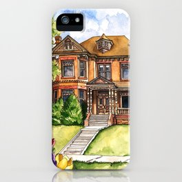 Victorian Mansion in the Spring iPhone Case