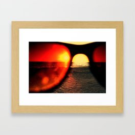 Sunglasses Framed Art Print