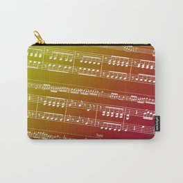Double Bass Concerto Music on Red Carry-All Pouch
