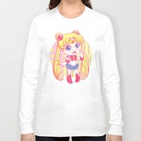 sailor moon Long Sleeve T-shirts featuring Sailor Moon by strawberryquiche