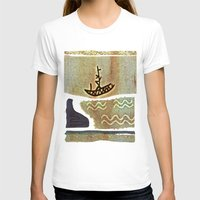 boat T-shirts featuring Boat by Menchulica