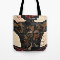 django Tote Bags featuring Django by C.R.ILLUSTRATION