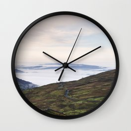 Cloud inversion over Ambleside at sunrise. Cumbria, UK. Wall Clock