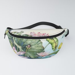 Japanese Water Lilies and Lotus Flowers Fanny Pack