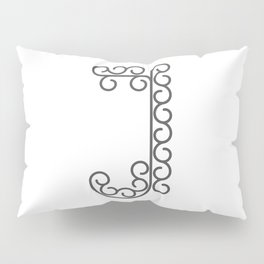 "Letter ""J"" in beautiful design Fashion Modern Style Pillow Sham"
